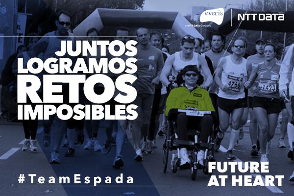 Carlos García Espada, afectado de ELA, lidera el Team Espada de everis-NTT DATA en la EDP Rock ´n´ Roll Running Series Madrid